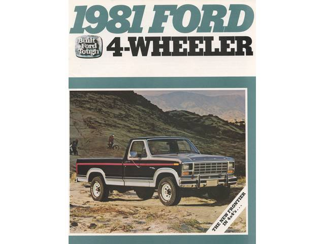 SALES BROCHURE, 1981 4 wheeler, original, limited availability