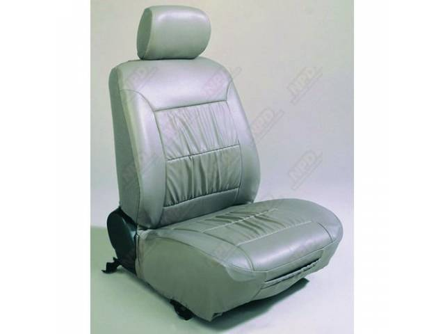 SEAT COVER ECHO LEATHER TAUPE SOFT TEXTURED VINYL