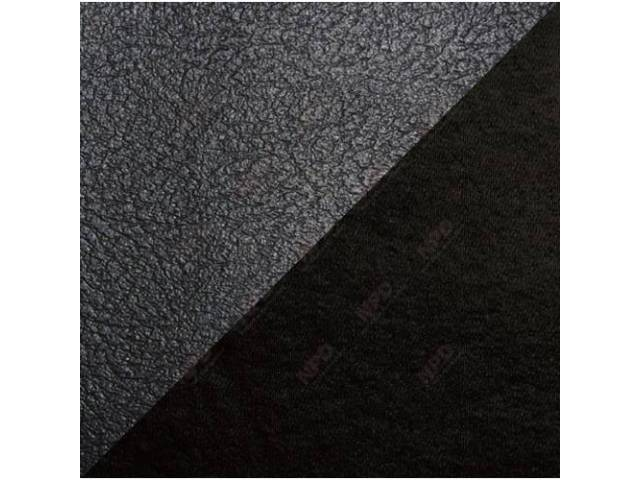 UPHOLSTERY SET STANDARD BENCH BLACK VINYL W/ CLOTH
