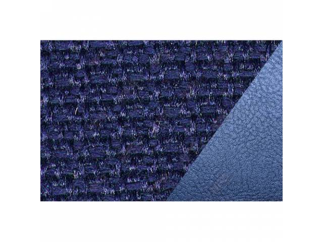 UPHOLSTERY SET, STANDARD BENCH, DARK BLUE VINYL W/