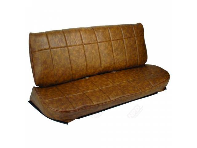 UPHOLSTERY SET DELUXE BENCH GINGER PINE VINYL WITH