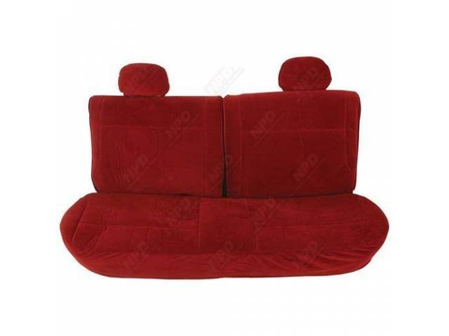 UPHOLSTERY SET SPLIT BACK FRONT BENCH/REAR BENCH MAROON