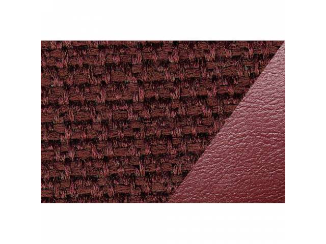 UPHOLSTERY SET STANDARD BENCH MAROON VINYL W/ CLOTH