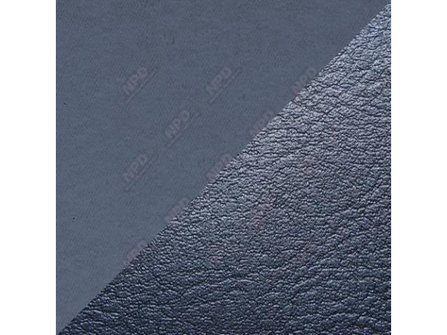 UPHOLSTERY SET STANDARD BENCH DARK BLUE VINYL W/