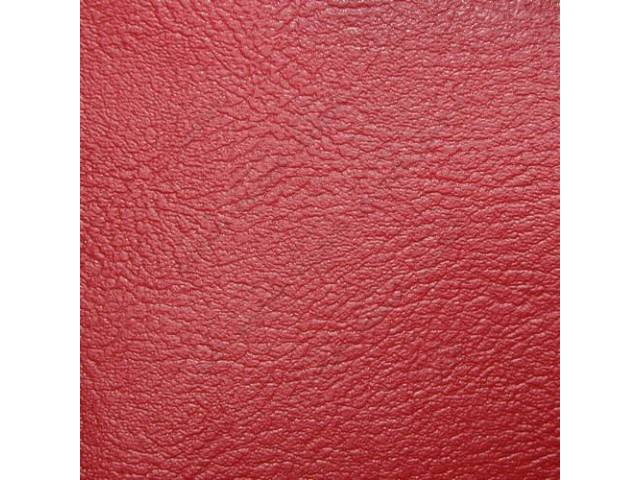 UPHOLSTERY SET STANDARD BENCH RED VINYL WITH VINYL