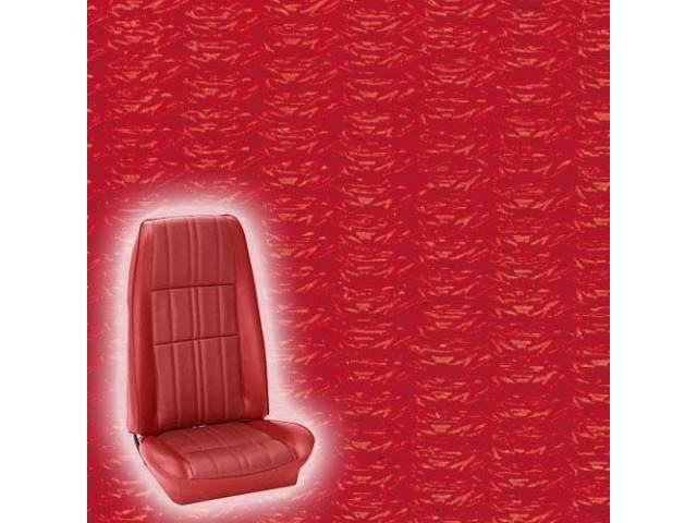 UPHOLSTERY FRONT BUCKET DELUXE COMFORTWEAVE VERMILION RED