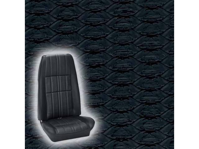 UPHOLSTERY FRONT BUCKET DELUXE COMFORTWEAVE BLACK