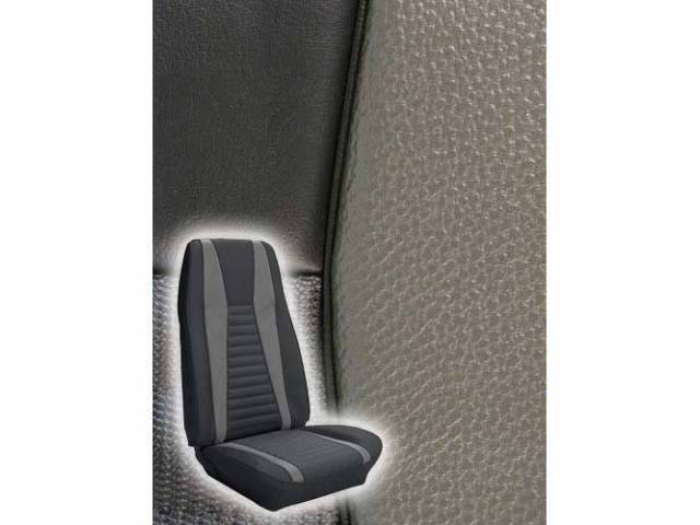 UPHOLSTERY FRONT BUCKET MACH 1 BLACK W/ GRAY