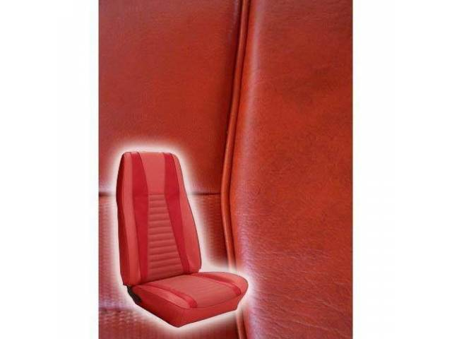 UPHOLSTERY FRONT BUCKET MACH 1 VERMILION RED W/