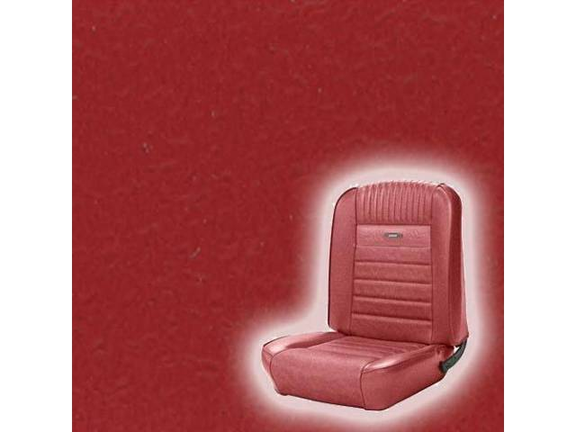 UPHOLSTERY, FRONT BUCKET, DELUXE, BRIGHT RED