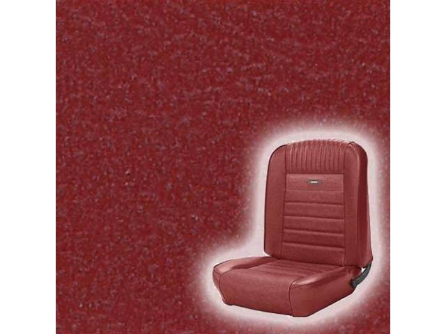 UPHOLSTERY, FRONT BUCKET, DELUXE, RED, pair