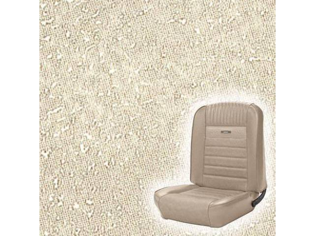 UPHOLSTERY, FRONT BUCKET, DELUXE, PARCHMENT, PAIR