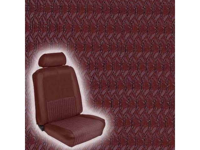 UPHOLSTERY FRONT BUCKET DELUXE COMFORTWEAVE DARK RED INCL