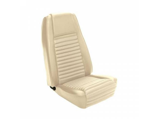 UPHOLSTERY FRONT BUCKET MACH 1 WHITE W/ WHITE