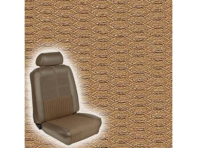 UPHOLSTERY, FRONT BUCKET, DELUXE, NUGGET GOLD, INCL HEADREST