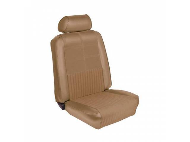 UPHOLSTERY, FRONT BUCKET, DELUXE, COMFORTWEAVE, NUGGET GOLD, INCL