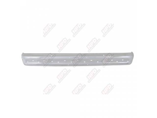BUMPER / FRONT CHROME 86-88 WO / END