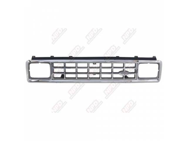 GRILLE / CHROME 1PC 83-88 W / ARG