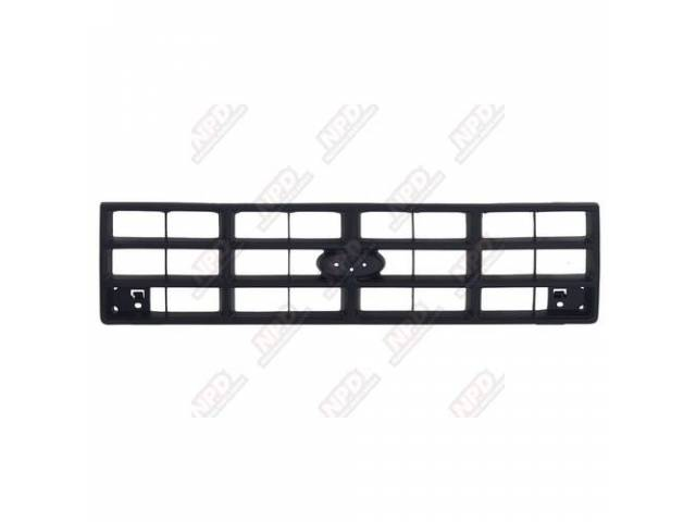 GRILLE / BLACK 89-92 EXC NOT FOR GT