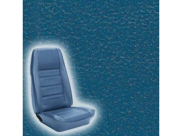 UPHOLSTERY FRONT BUCKET STANDARD MEDIUM BLUE Now sold