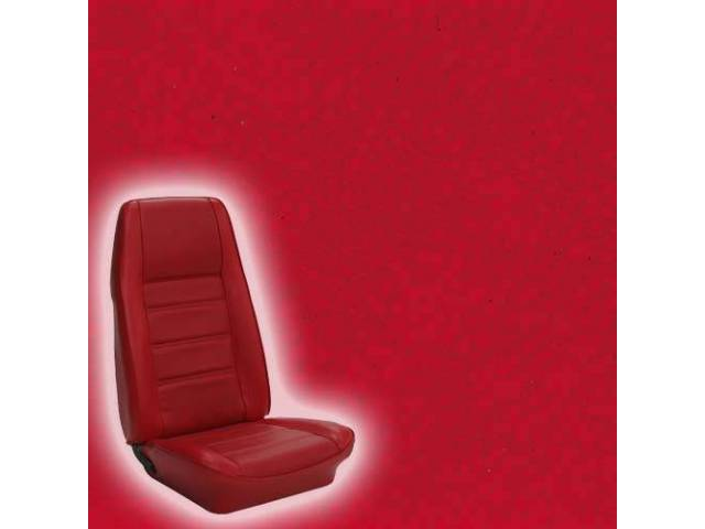 UPHOLSTERY FRONT BUCKET STANDARD VERMILION RED