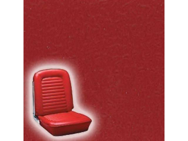 UPHOLSTERY, FRONT BUCKET, STANDARD, BRIGHT RED