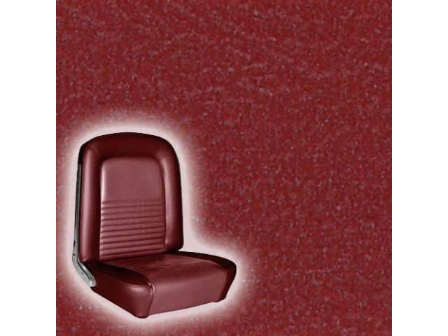 UPHOLSTERY, FRONT BUCKET, STANDARD, RED