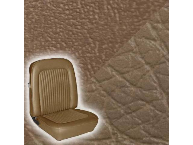 UPHOLSTERY FRONT BUCKET STANDARD SADDLE LESS HEADREST COVER