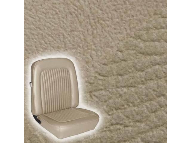 UPHOLSTERY, FRONT BUCKET, STANDARD, PARCHMENT, LESS HEADREST COVER