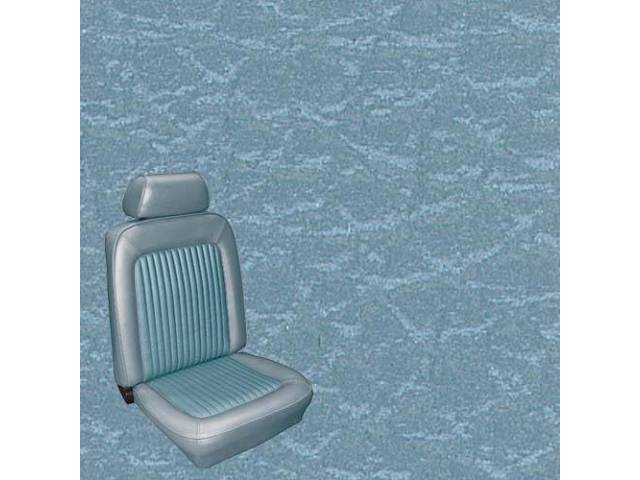 UPHOLSTERY, FRONT BUCKET, STANDARD, LIGHT BLUE, INCL HEADREST