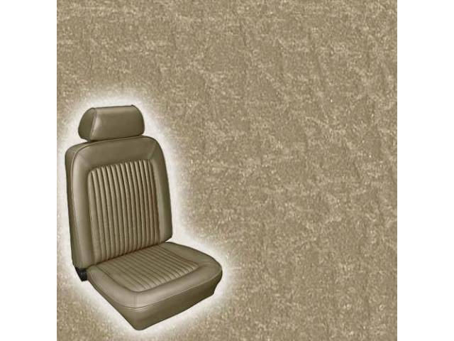 UPHOLSTERY FRONT BUCKET STANDARD NUGGET GOLD INCL HEADREST