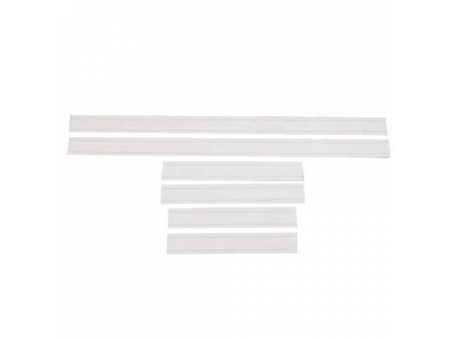 STRIPE SET, GT, white, early style stripe dimensions,