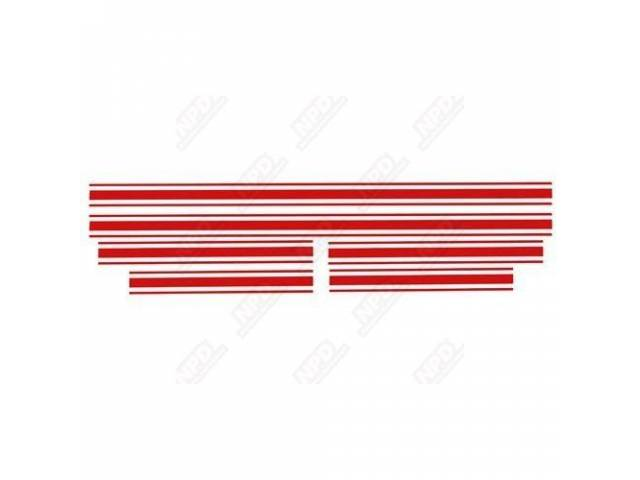 STRIPE SET, GT, RED, US-made, 3M automotive high