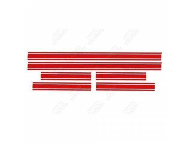 STRIPE SET GT red late style stripe dimensions