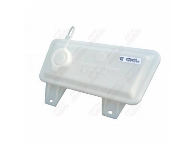 RESERVOIR WINDSHIELD WASHER FLUID CLEAR PLASTIC CONCOURSE CORRECT