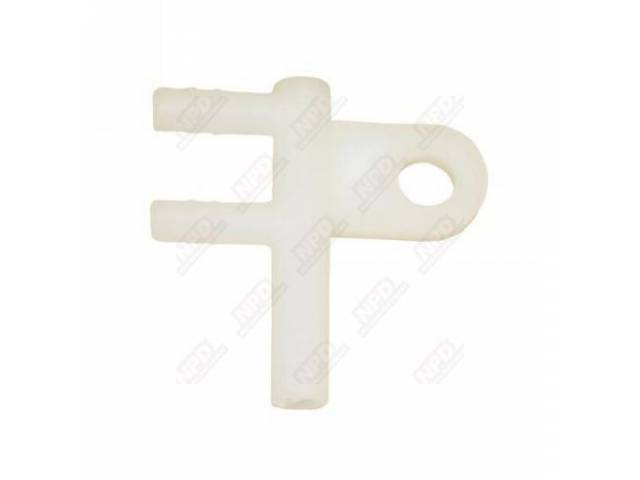 Hose Connector Windshield Washer White Plastic Repro These