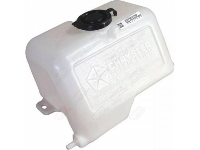 Reservoir, Windshield Washer Fluid, Clear / White Finish, Concourse Correct, Incl Correct Screws And Washers