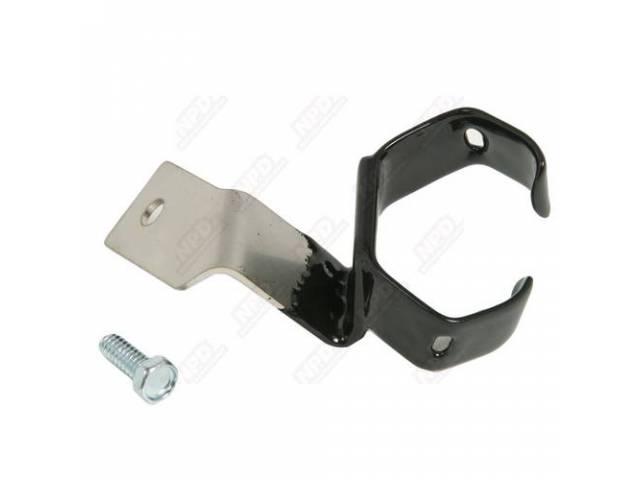 Bracket, Lower Positive Battery Cable Routing, Original Zinc