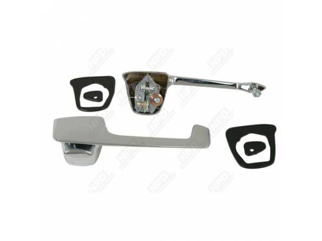 Handle Assy Set Outside Front Door Chrome Incl