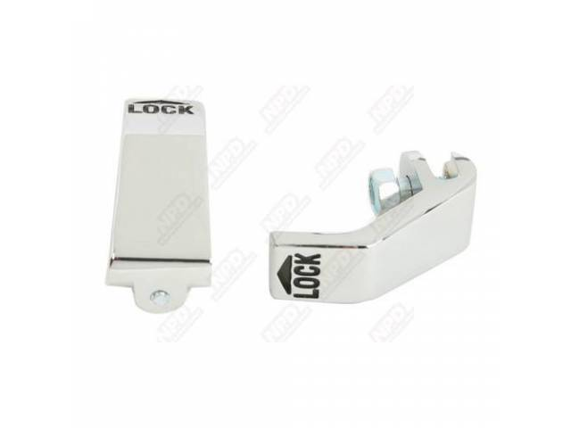 Knob Inside Door Lock Chrome Pair Incl Correct