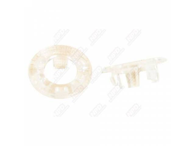 Ferrule Set, Door Lock Knob, Clear Plastic, Pair,