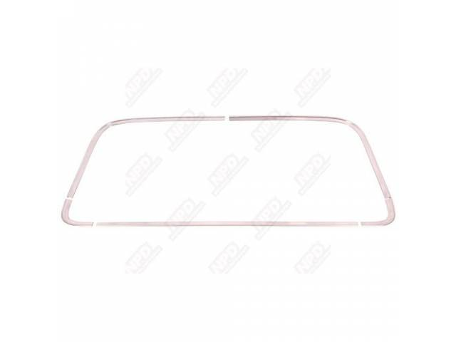 Molding Kit Rear Window Reveal Stainless 5 Repro