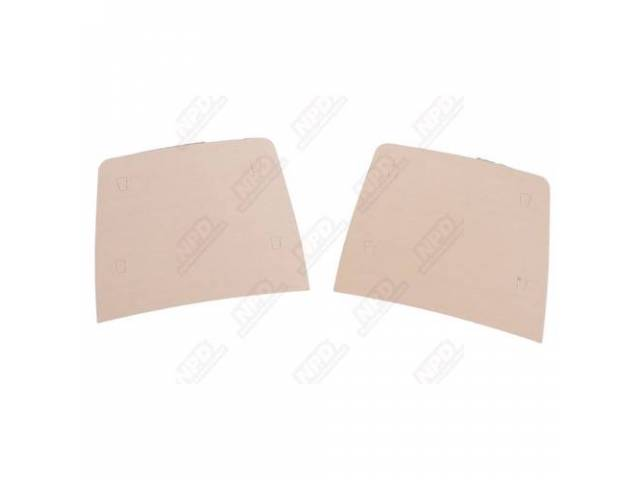 Seat Back Boards, New Staples Incl