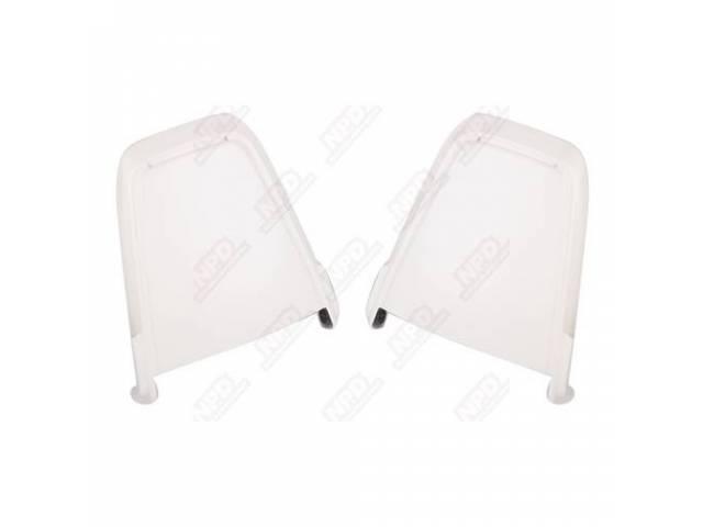 Seat Back Panels, Molded Abs Plastic, Correct Grain,