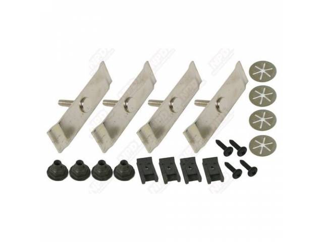 Spoiler Hardware Kit Clips Nuts And T Bolts