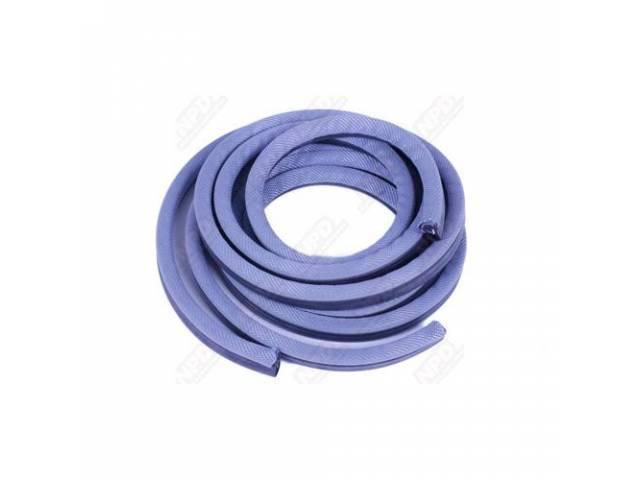Rubber And Windlace Door Seals, Lt Blue