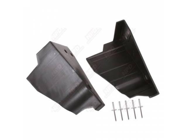 Splash Shield Kit K-Member Black Plastic Injection Molded