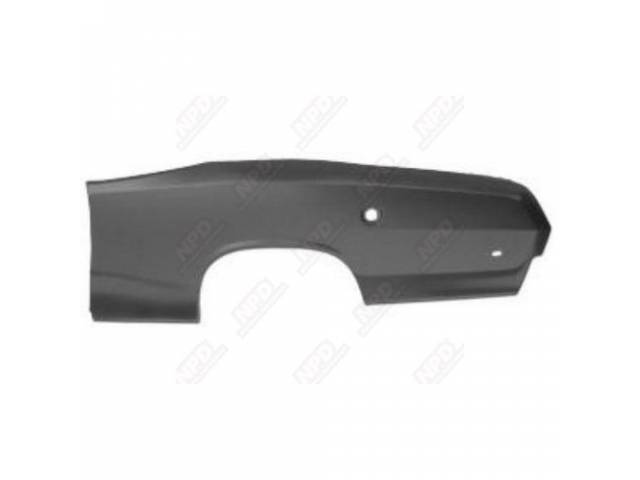 Rear Quarter Panel, Lh Skin, 19 Gauge Metal,