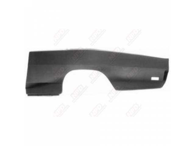 Rear Quarter Panel Lh Skin 19 Gauge Metal