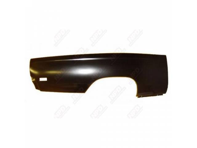 Rear Quarter Panel, Rh Skin, 19 Gauge Metal,